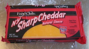 yellow 'NY style' sharp cheddar cheese