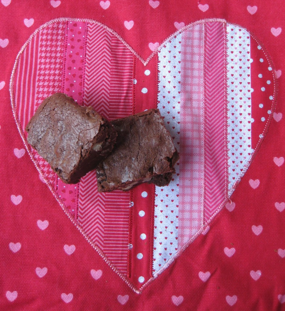brownies on heart