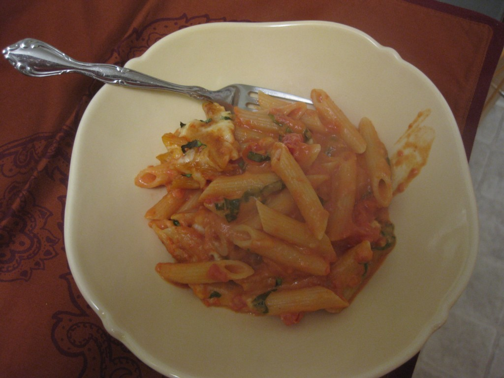 ziti in bowl