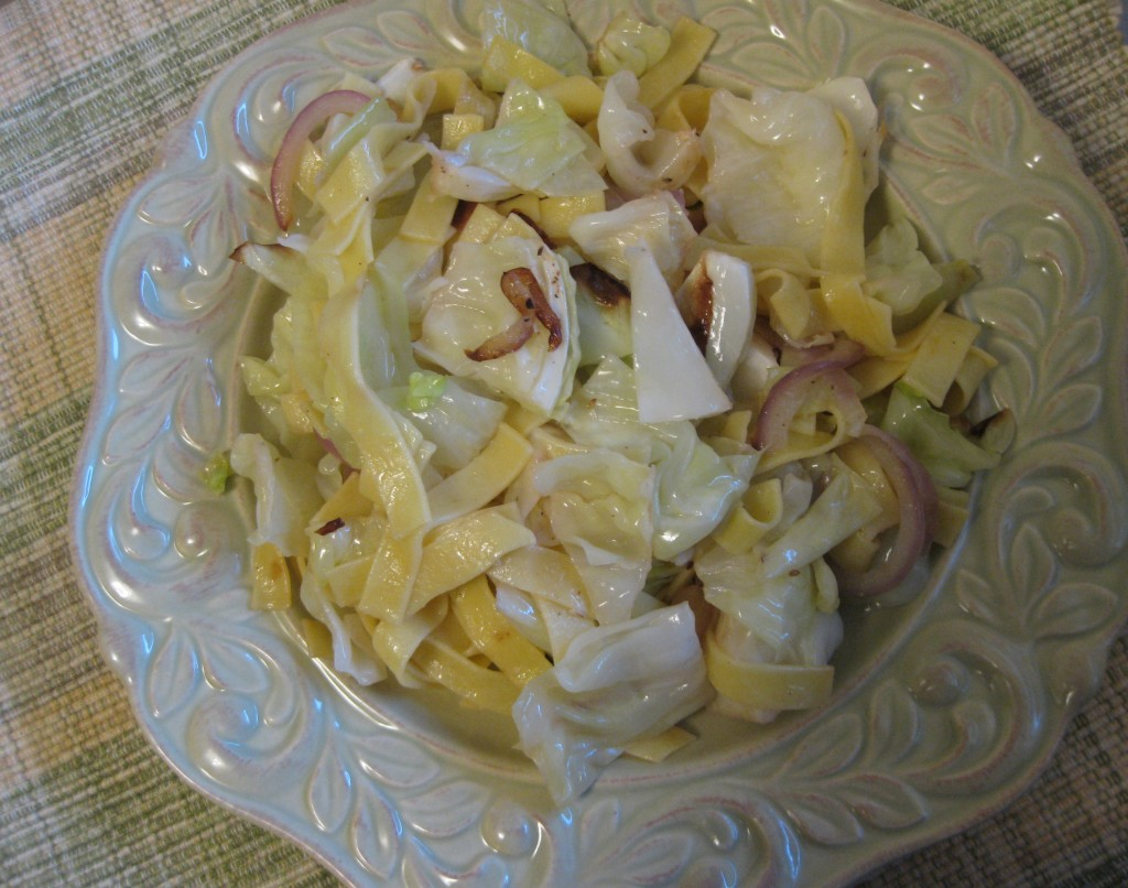 cabbage and egg noodles