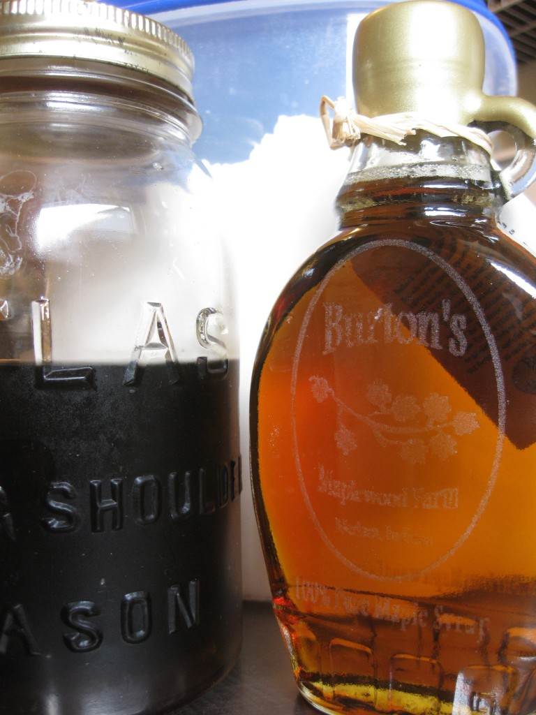 Grade A and Grade B maple syrup