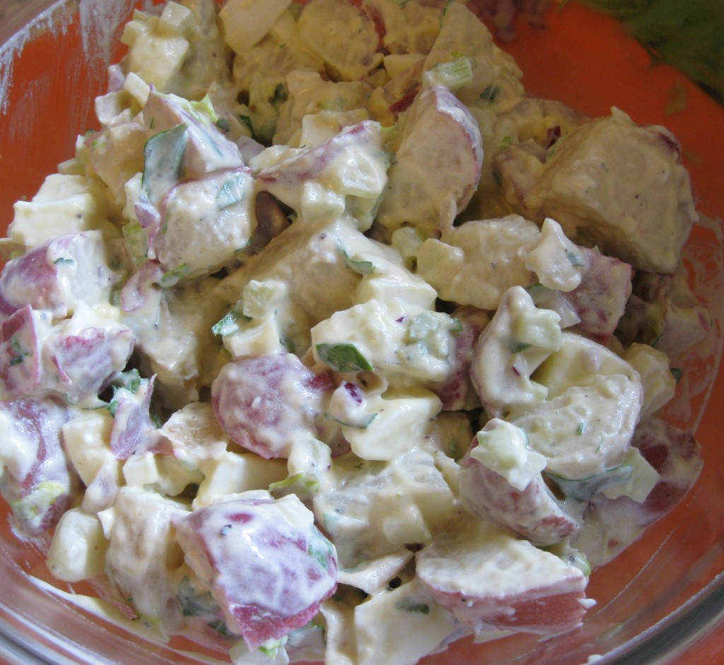 potato salad in a bowl